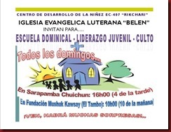 Invitación Escuela dominical..