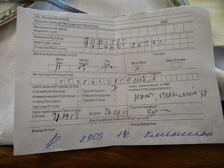 Viza Transnistria