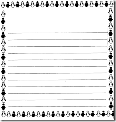 Penguin Writing Paper Template