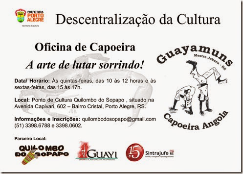 Web Flyer . Oficina Capoeira . Descentralização Cultura 2014-1 A3