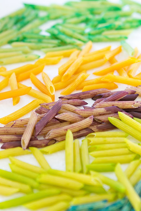 diy colorful noodle necklace - kids and toddler craft