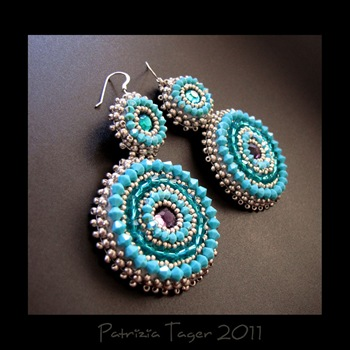 Around & Around - Turquoise earrings 02 copy