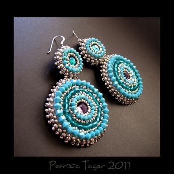 Around & Around - Turquoise earrings 02 copy