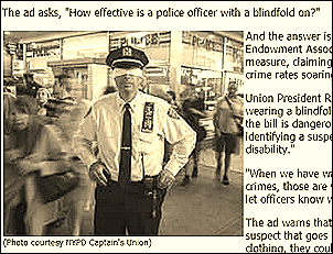 How effective is a police officer with a blindfold