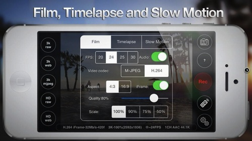 Iphone 3k 2k 4k resolution take movie3
