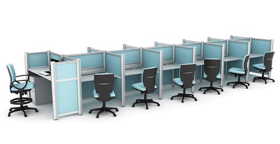 Estacion de Trabajo Multiple Azul