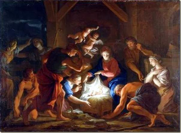 Attribué à Daniel Sarrabat, Nativité