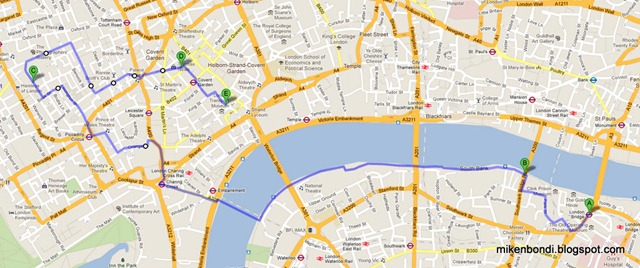 London walking route