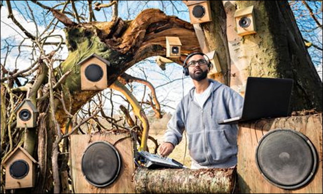 Vocal sculptor Jason Singh. 'The migration patterns of many species have evolved so eggs hatch precisely when food sources are most abundant.' Photo: Andy Fallon / National Trust / Rex