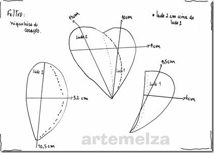 artemelza - porta moedas de coração