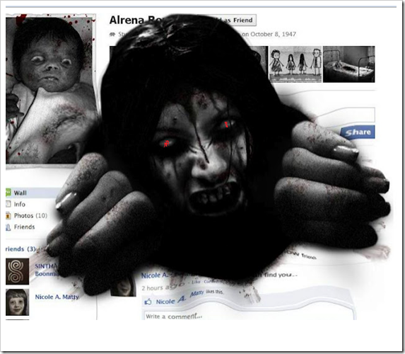 Make your Facebok friends to be scared