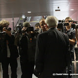 Conférence de presse improvisée avant le meeting