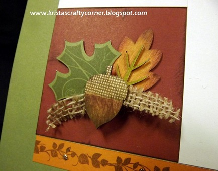 Give Thanks layout_close up acorn leaf cluster