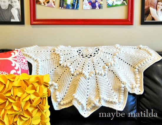 Winter Ripple crochet blanket