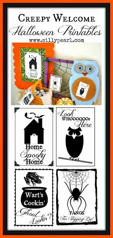 Creepy Welcome Halloween Printables via The Silly Pearl