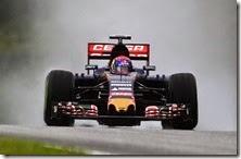 Max Verstappen nelle qualifiche del gran premio della Malesia 2015