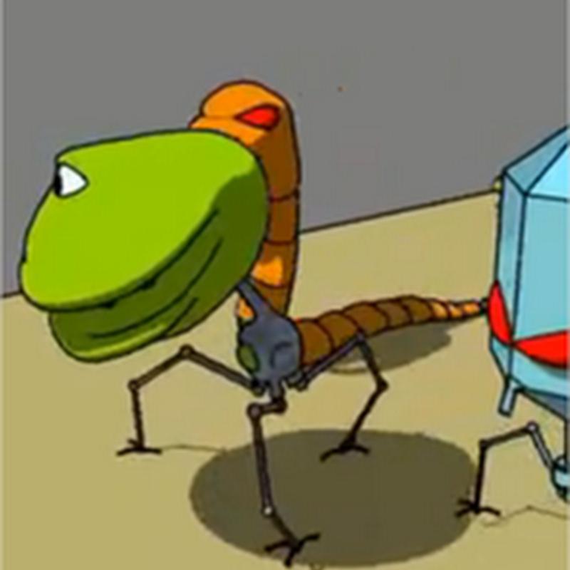 Explicación de un virus, un gusano y un botnet animadamente