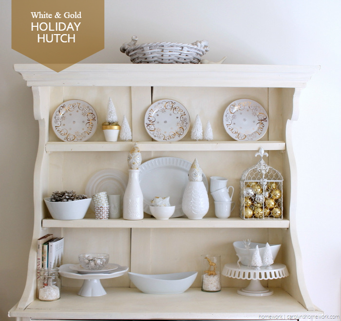 White & Gold Holiday Hutch 2014 via homework - carolynshomework (2)