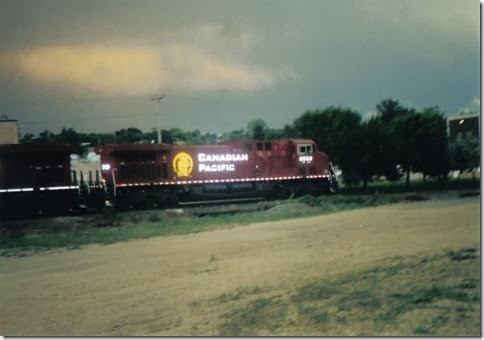 Canadian Pacific C44-9W #8559 in Minot, North Dakota in July 1999