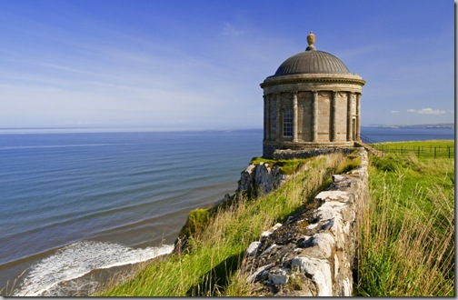Mussenden Temple on the Downhill Demesne, County Londonderry, Northern Ireland