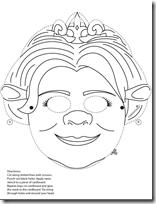 mascara de fiona shrek colorear