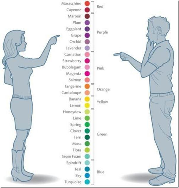 Como mulheres e homens enxergam as cores