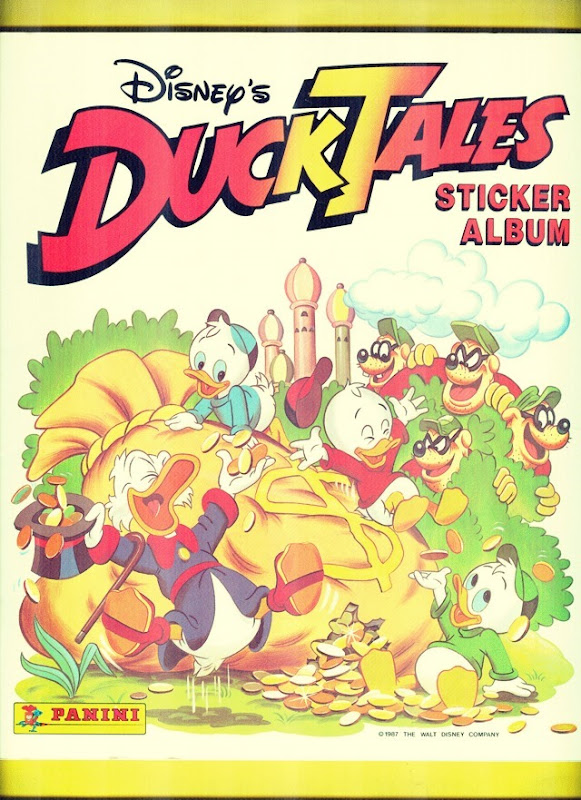 Ducktales Sticker Book Front Side