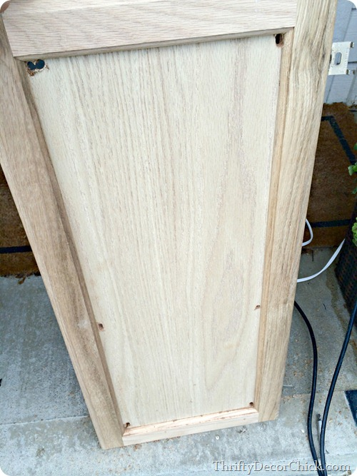 cutting insert out of cabinet door