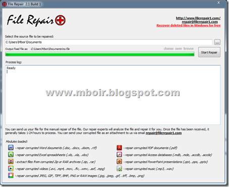 File Repair - mboir
