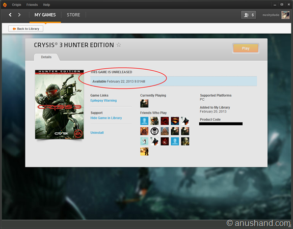 Crysis 3 Pre-loaded