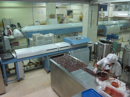Chocolate production on a grand scale at the Museum of Chocolate.