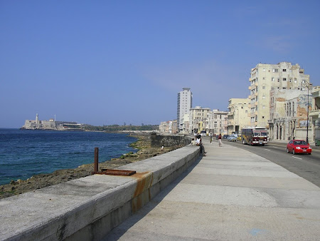 Famous roads of Cuba: Malecon, Havana