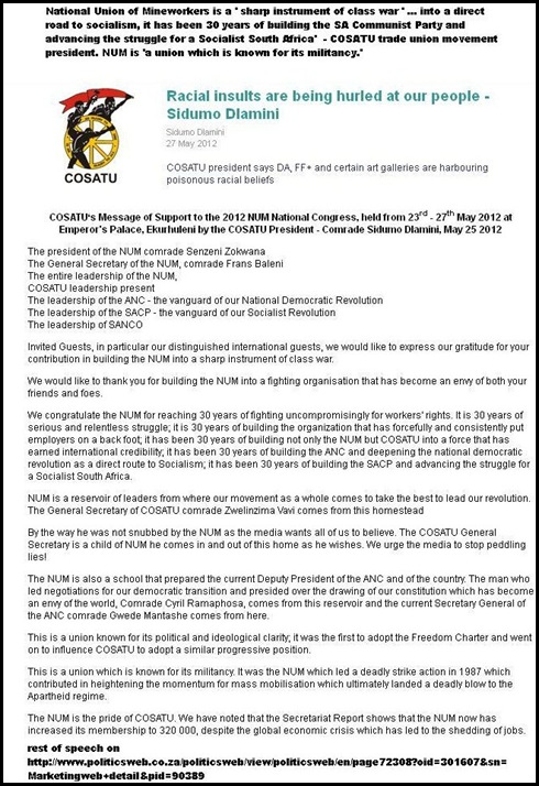 NUM NATIONAL UNION OF MINEWORKERS FIGHTING ORGANISATION SHARP INSTRUMENT OF CLASS WAR