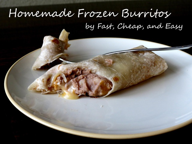 homemade frozen burritos 1