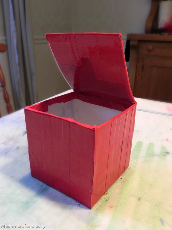 cover box in tape
