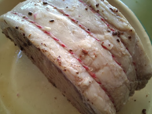 Roast Beef with Cider Marinade After Marinating (top view)