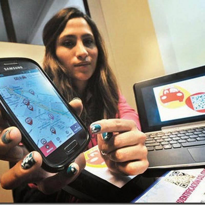 Llega a La Paz Celutaxi, 'app' para viajar de forma segura
