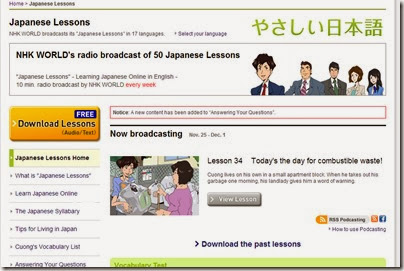 Japanese Lessons, free textaudio downloads  NHK WORLD - Google Chrome 28112013 105049 PM.bmp