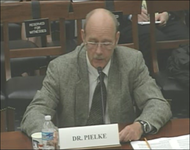 Roger Pielke testifies at the U.S. House of Representatives hearing, titled 'Examining the UN Intergovernmental Panel on Climate Change Process'. Photo: U.S. House Committee on Science, Space, and Technology