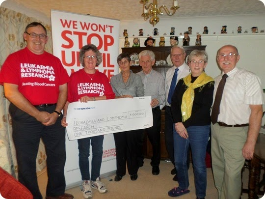 Dancers hand cheque to Leukaemia and Lymphoma Research