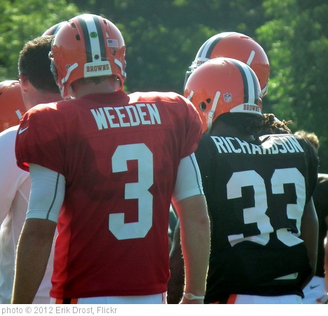 'Brandon Weeden and Trent Richardson' photo (c) 2012, Erik Drost - license: http://creativecommons.org/licenses/by/2.0/