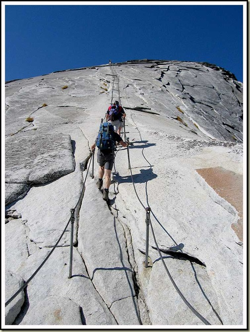 Martin stumbles up Half Dome - 27/9/2006