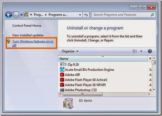 cara menghapus program bawaan windows