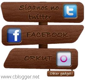 Gadget Menu vertical madeira redes sociais