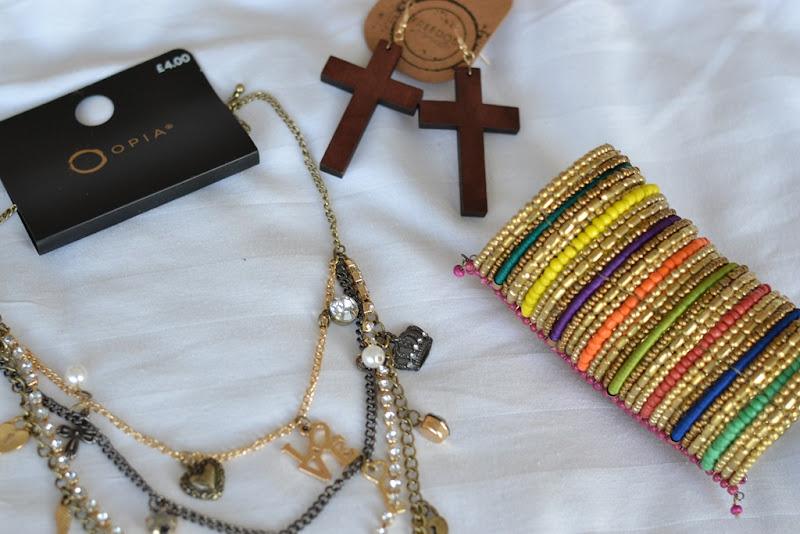Primark Skull Cross Necklace, Primark Necklace, Cross Earring, Etno Bracelet, Primark Bracelet, Primark Jewels