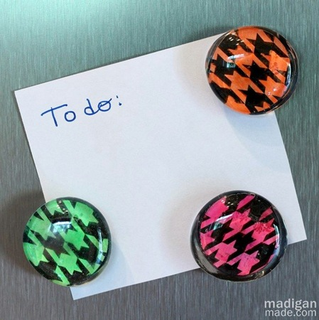make diy neon gem magnets