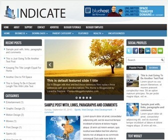 Indicate-Blogger-Template