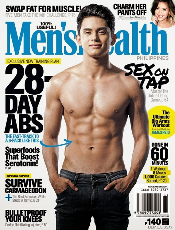 James Reid Men's Health Philippines November 2014