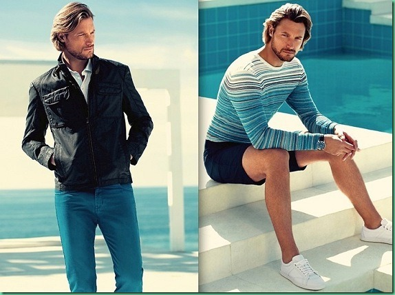 Gabriel Aubry for Boss by Hugo Boss S/S 13