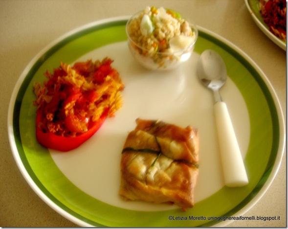 peperoni ripieni pasta insalat riso fiori zucchine fagioli crespelle crepes radicchio carote taleggio